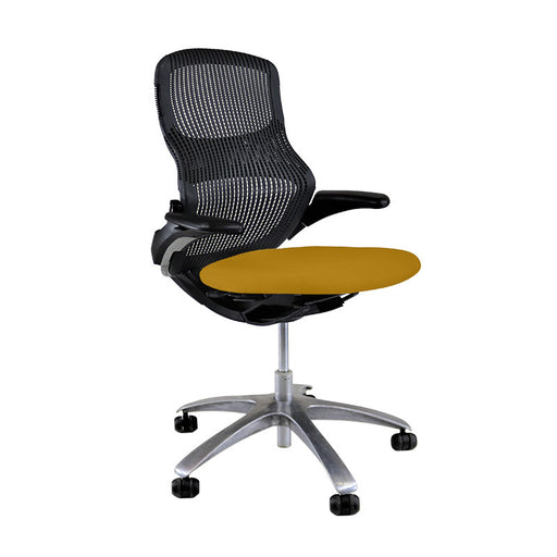 Knoll Generation - Black with New Yellow Seat