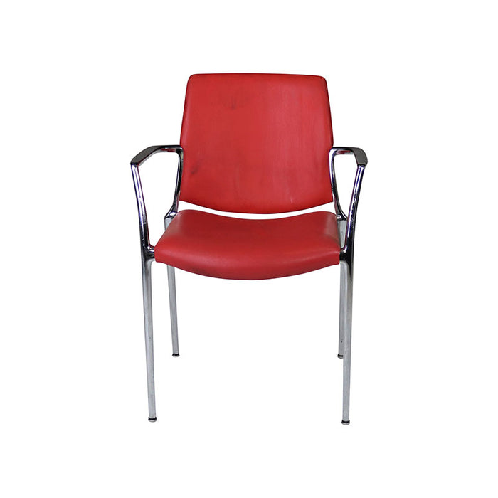 Kusch & Co Visitors Chair in Red Leather