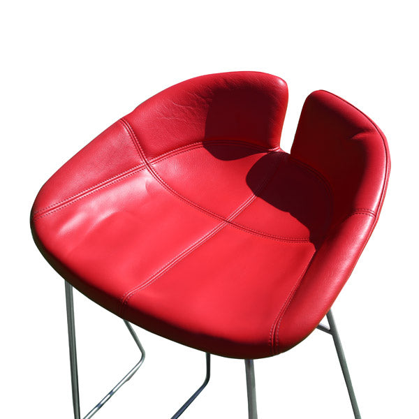 Moroso Red Leather Stools