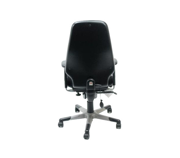 RH LOGIC High Back Ergonomic Office Chair  - Back Lumber Pump - New Black Fabric