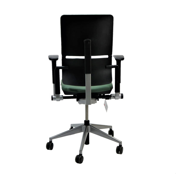 Steelcase Please V2 New Green Leather chair