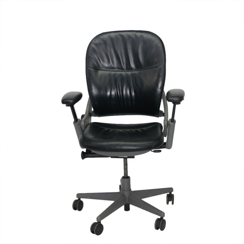 STEELCASE LEAP V1 CHAIR Original Black Leather