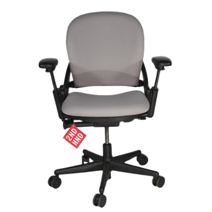 Steelcase Leap V1 Chair with sliding seat in new grey fabric