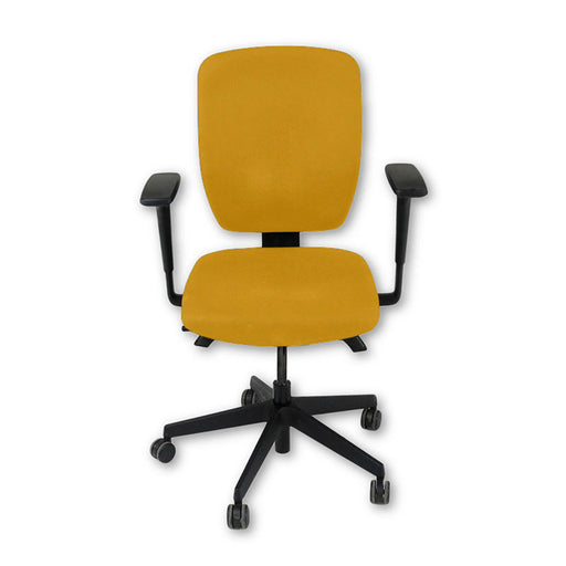 Senator Dash Task Chair in New Yellow Fabric ( Fully Adjustable )