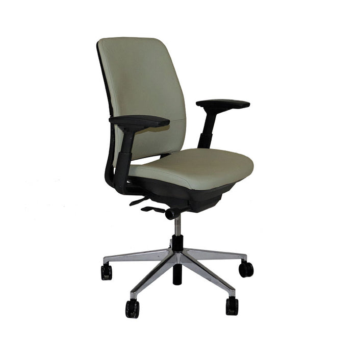 Steelcase Amia in New Beige Leather