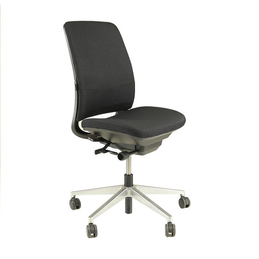 Steelcase Amia in New Black Fabric - No Arms