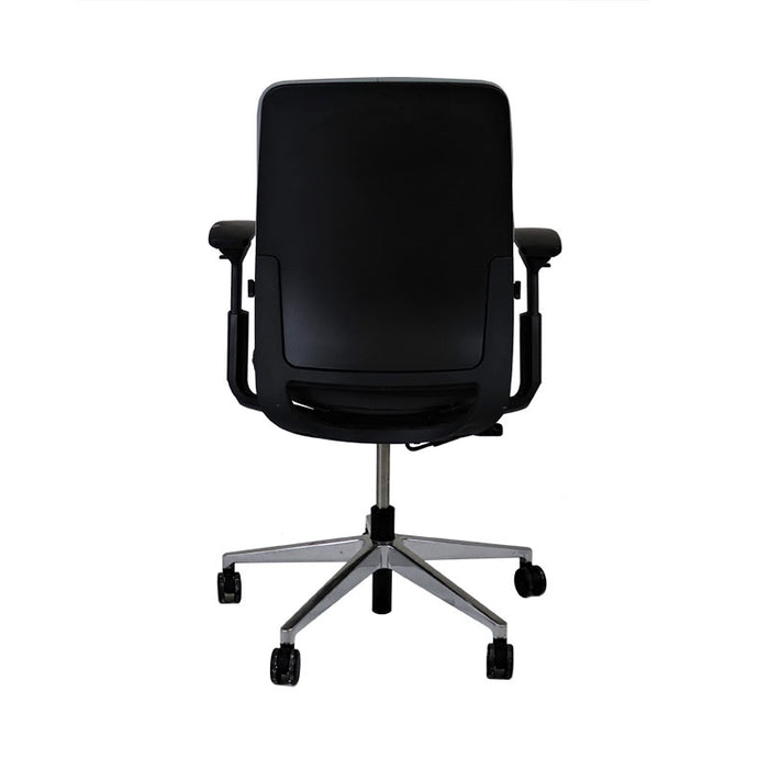 Steelcase Amia in New Black Leather