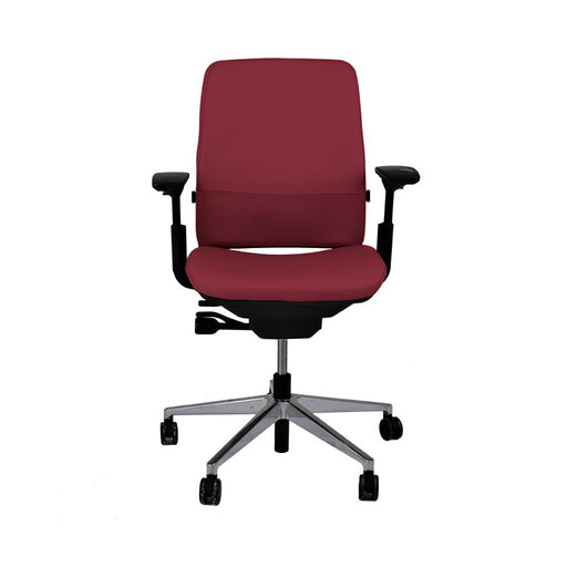 Steelcase Amia in New Burgundy Leather