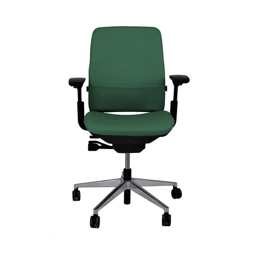 Steelcase Amia in New Green Leather