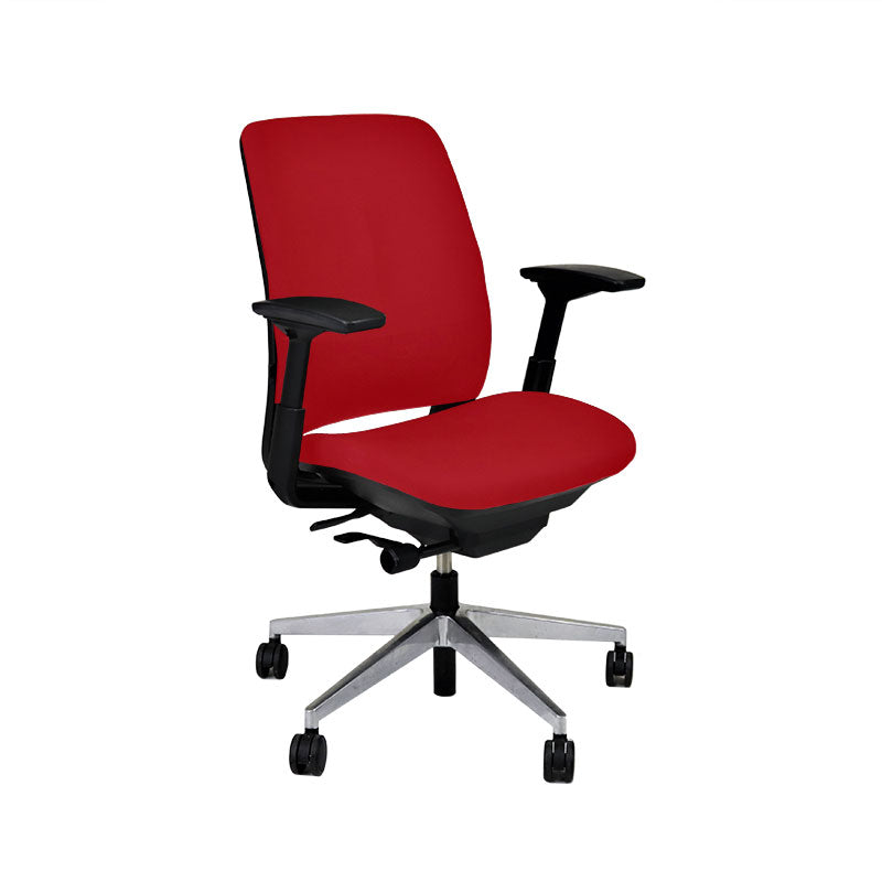 Steelcase Amia in New Red Fabric