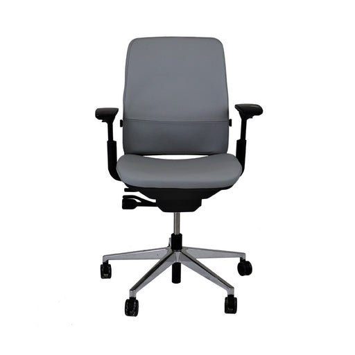 Steelcase Amia in Grey Leather