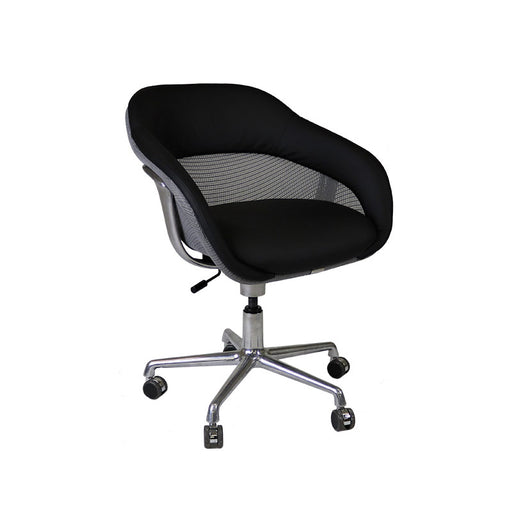 Steelcase Coalesse SW_1 Conference Chair in New Black Leather