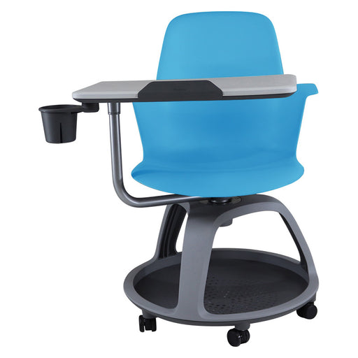 Steelcase Node in Blue with Tripod Base and Table