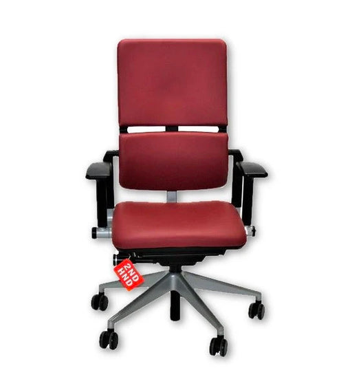 Steelcase Please V2 New Burgundy  Leather chair