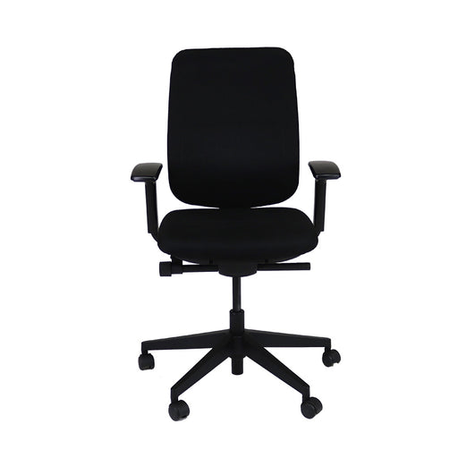 Steelcase Reply Task Chair in Black Fabric with Arms