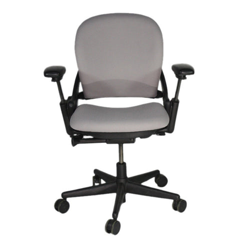 steelcase leap v1 chair in new grey fabric