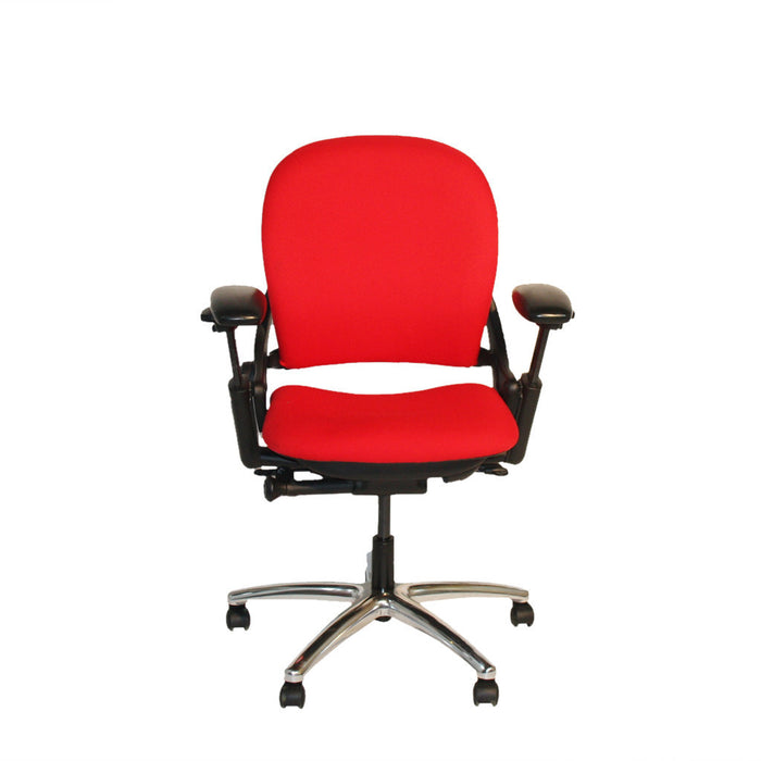 Steelcase Leap V1 Task Chair in Red Camira Phoenix Fabric