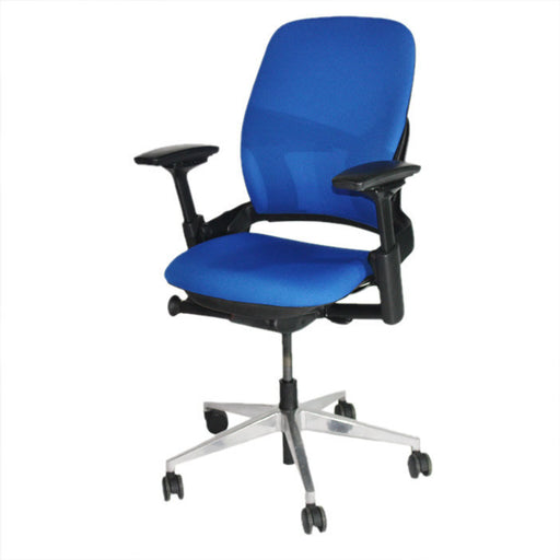 Steelcase Leap V2 Chair in new blue fabric