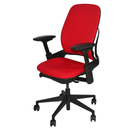 Steelcase Leap V2 Chair In New Red Fabric
