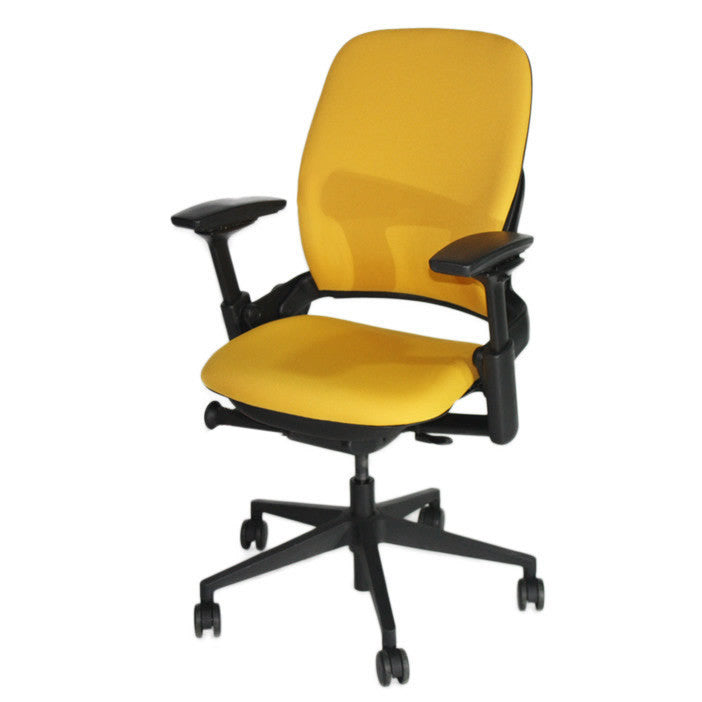 Steelcase Leap V2 Chair in new yellow fabric