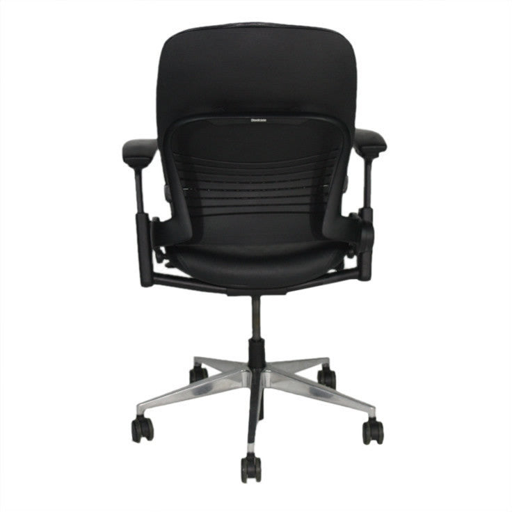 steelcase leap v2 chair in black leather – 2ndhnd - quality
