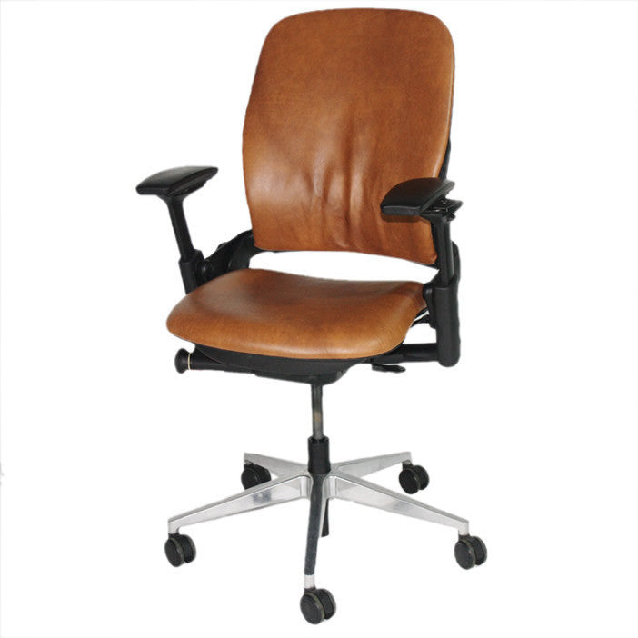 leather chairs steelcase black index chair leap