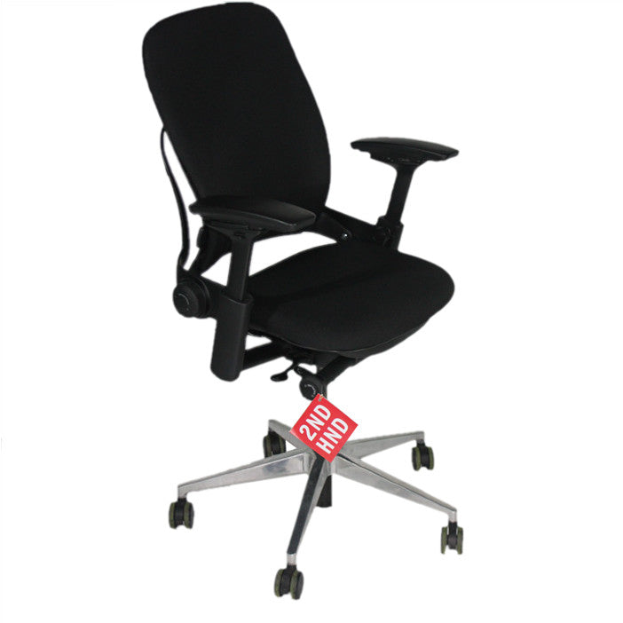 Leap Chair By Steelcase steelcase leap v2 chair in new black fabric – 2ndhnd - quality
