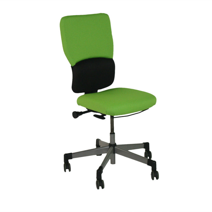 Steelcase Lets B Hi Back Task Chair No Arms in New Green Fabric