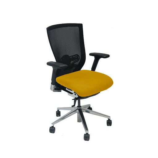 Techo Sidiz T50 Mesh Back with New Yellow Fabric