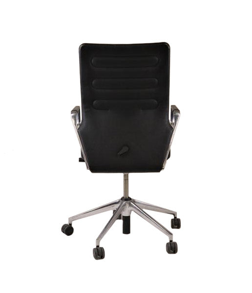 Vitra AC4 Hi back  aluminium frame Leather Seat and Leather Back