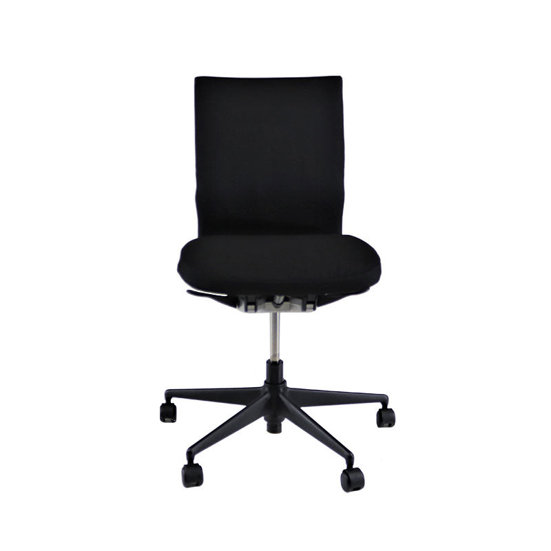 Vitra Axess No Arms in New Black Fabric