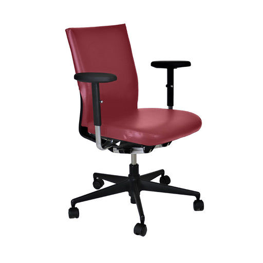 Vitra Axess in Burgundy Leather