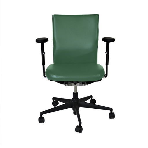 Vitra Axess in Green Leather