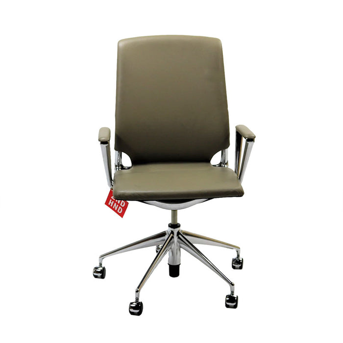 Vitra Meda Task Chair Full Leather Aluminium Frame