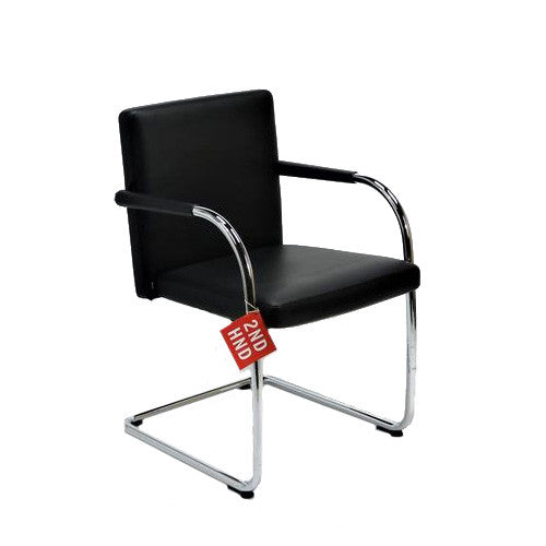 Vitra VisaSoft Full Black Leather Leather