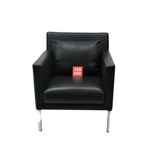 Walter Knoll Jason 391 Single Seater Cuero negro