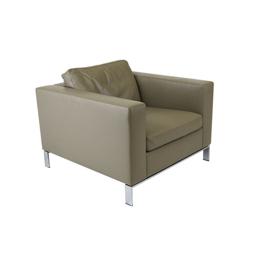 Walter Knoll Norman Foster Single Seater in Beige leather