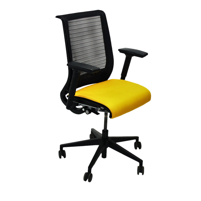 Steelcase Think Office Chair in New Yellow Fabric