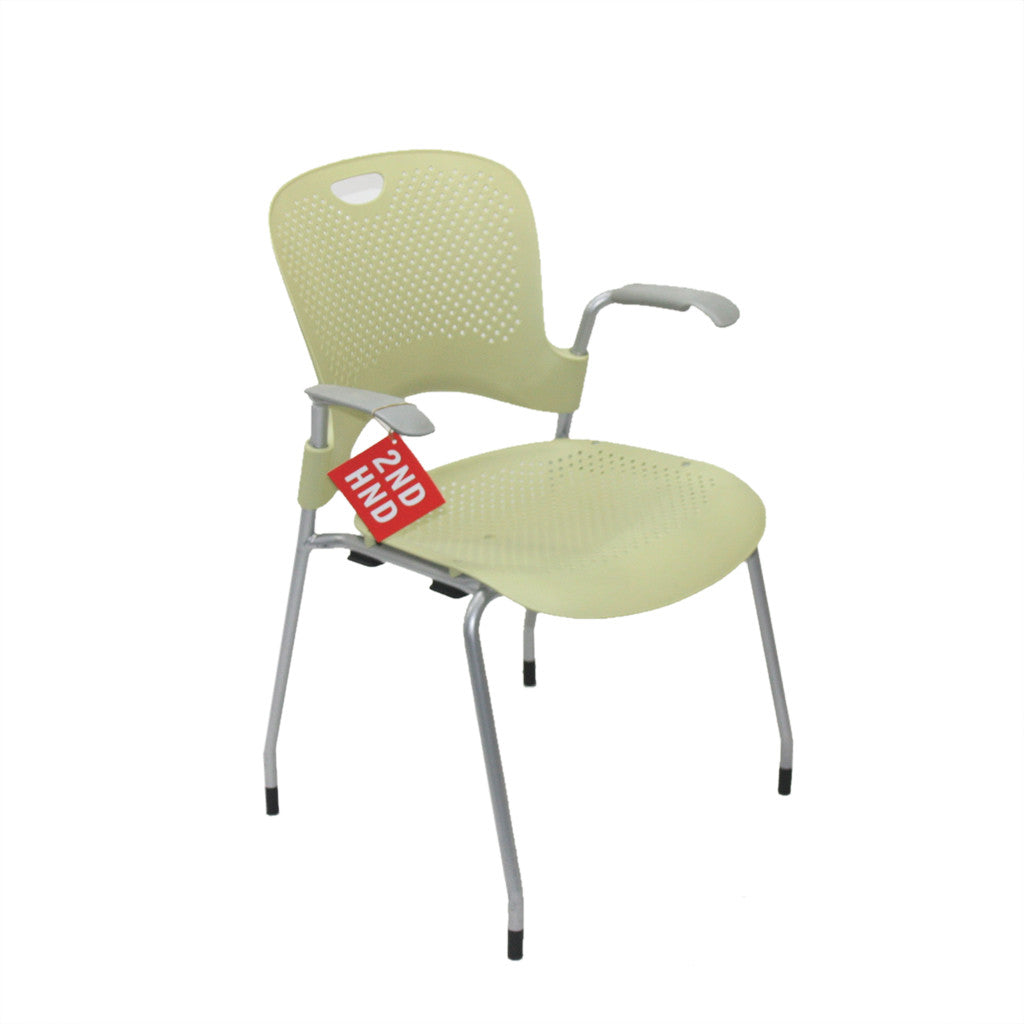 herman miller caper stacking yellow arm chair – ndhndcom  -  herman miller caper stacking yellow arm chair