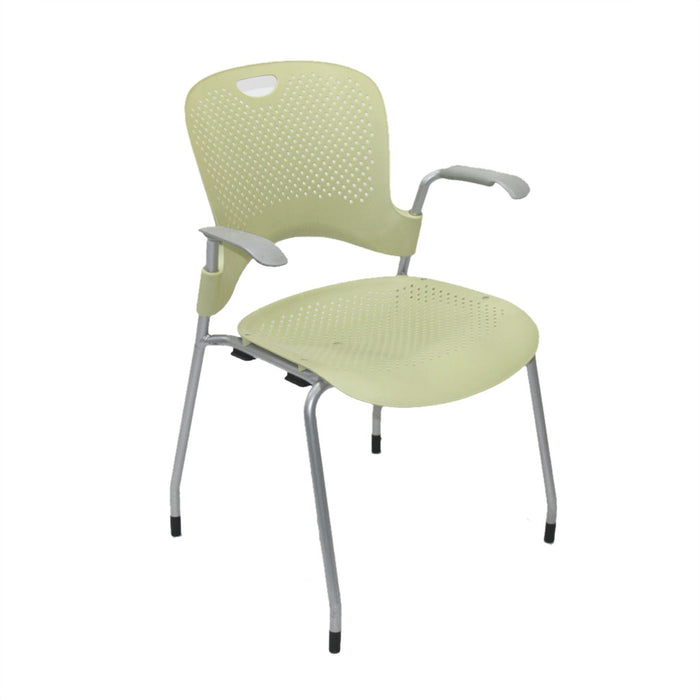 Herman Miller Caper Stacking Yellow Arm Chair