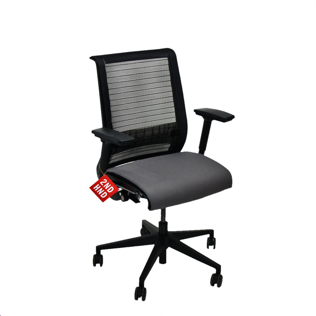 Steelcase Think Office Chair In New Grey Fabric Quality Office