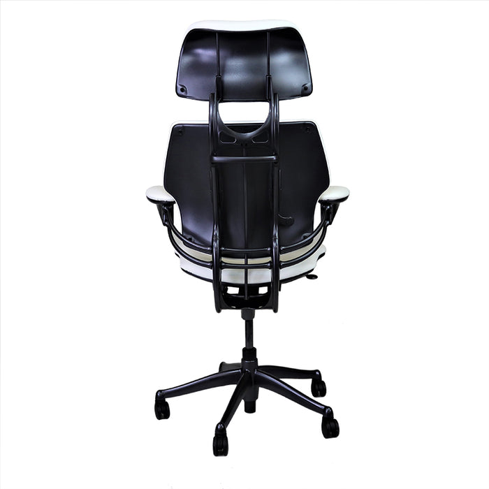 Humanscale Freedom Hi-Back in New White Leather