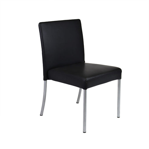 Florence Knoll Visitor Chair in Black Leather