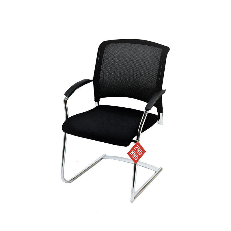 Interstuhl X570 Chrome Stacking Visitor Arm Chair