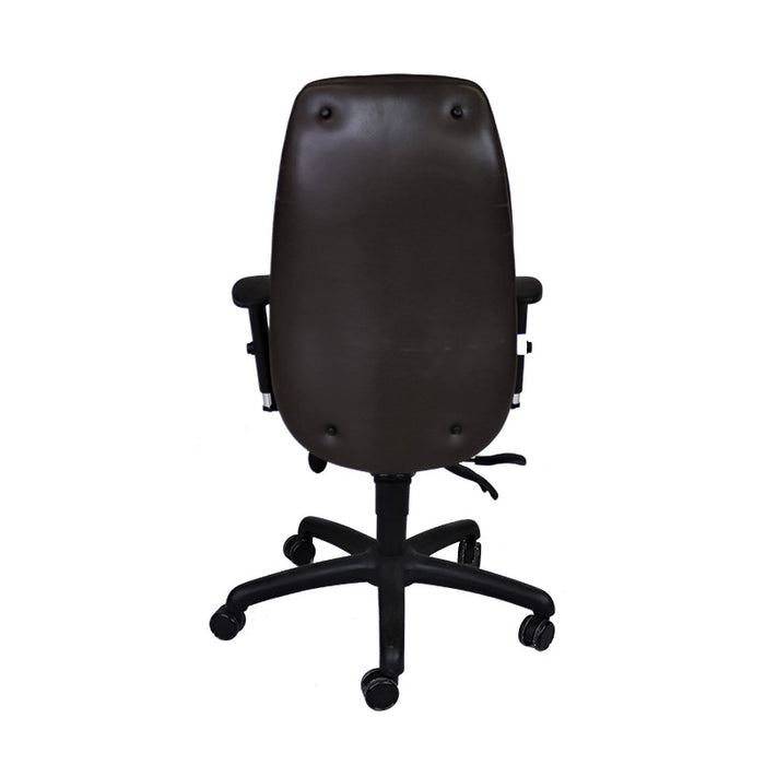Posturite Adapt 600 Task Chair - Brown Leather