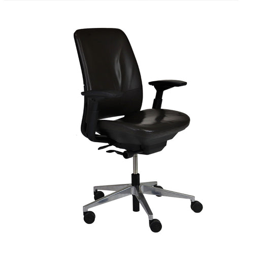Steelcase Amia in Brown Leather