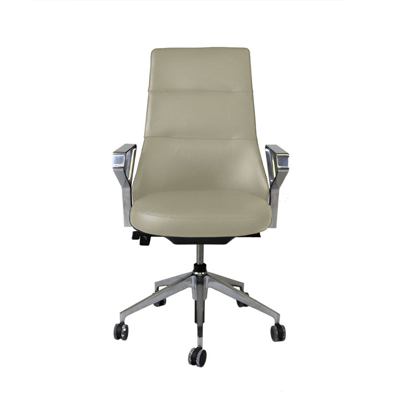 Steelcase Coalesse Massaud Conference Chair in New Beige Leather