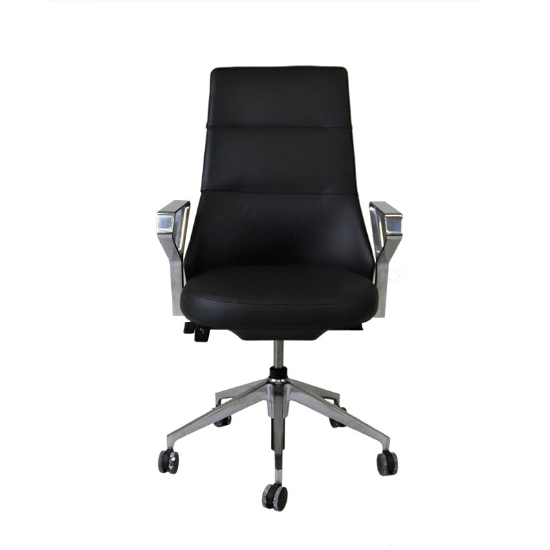 Steelcase Coalesse Massaud Conference Chair in New Black Leather