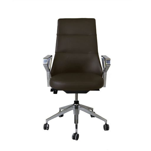 Steelcase Coalesse Massaud Conference Chair in New Brown Leather
