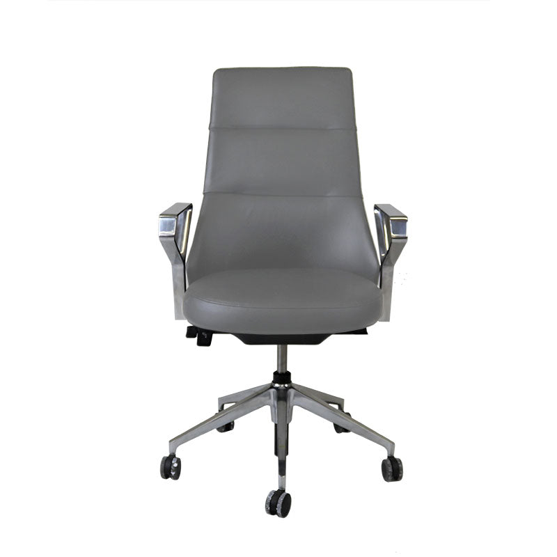 Steelcase Coalesse Massaud Conference Chair in New Grey Leather